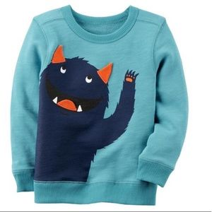 Carter's monster Character pullover
